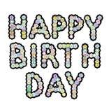 Letras de la flor del feliz cumpleaños Imagen de archivo libre de regalías