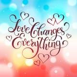 Letras de la frase del amor Foto de archivo libre de regalías