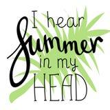 Letras de la historieta del verano stock de ilustración