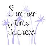 Letras de la historieta del verano Fotografía de archivo libre de regalías