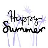 Letras de la historieta del verano Imagen de archivo libre de regalías