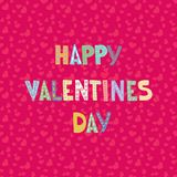 Letras de la historieta en modelo inconsútil de los corazones Diseño de tarjeta del saludo o de la invitación del amor Fotos de archivo libres de regalías