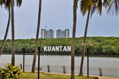 Letras de la ladera de Kuantan imagenes de archivo