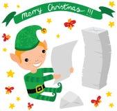 Letras de la lectura del duende de la Navidad Imagen de archivo libre de regalías