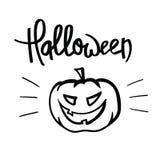 Letras de la mano de Halloween Foto de archivo