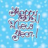 Letras de la mano de la Feliz Año Nuevo Fotos de archivo libres de regalías