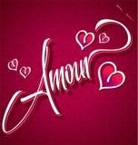 Letras de la mano del AMORÍO () Imagenes de archivo