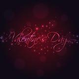 Letras de la mano del día de tarjeta del día de San Valentín Fotos de archivo