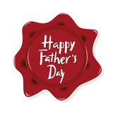 Letras de la mano del día del ` s del padre Día feliz del ` s del padre de la cita libre illustration