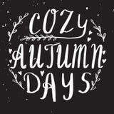 Letras de la mano del otoño y diseño de la caligrafía libre illustration