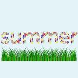 Letras de la palabra del verano pequeñas stock de ilustración