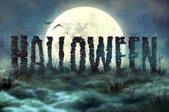 Letras de la piedra, Halloween Fotos de archivo