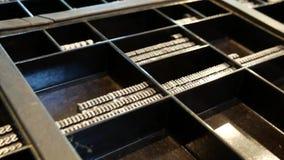 Letras de la prensa de copiar del metal para la impresora