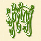 Letras de la primavera Foto de archivo libre de regalías