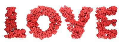 Letras de la representación del símbolo 3D del corazón del amor Fotos de archivo