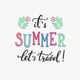 Letras de la tipografía del verano Deja viaje Foto de archivo libre de regalías