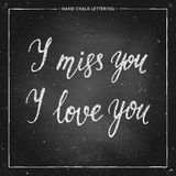 Letras de la tiza del amor Fotografía de archivo