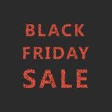Letras de la venta de viernes del negro del bosquejo Fotos de archivo libres de regalías