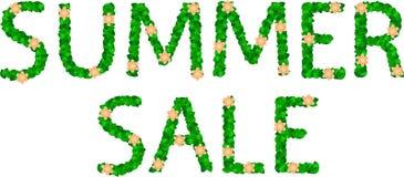 Letras de la venta del verano Foto de archivo