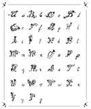Letras de las flores del alfabeto Fotos de archivo
