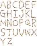 Letras de los guijarros Fotos de archivo