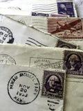 1953 letras de los matasellos imagen de archivo libre de regalías
