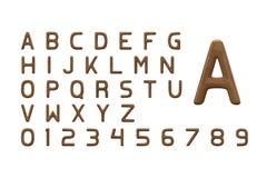 Letras de madeira Imagem de Stock Royalty Free