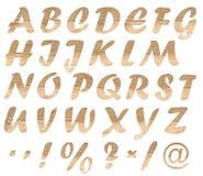 Letras de madeira fotografia de stock