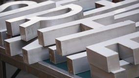 Letras de madeira do alfabeto Imagens de Stock