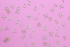 Letras de madeira do alfabeto de ABC fotografia de stock royalty free