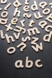 Letras de madera de ABC Imágenes de archivo libres de regalías