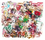 Letras de madera del ABC en una caja Fotos de archivo libres de regalías
