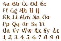 Letras de madera del alfabeto inglés foto de archivo libre de regalías