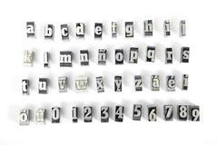 Letras de molde imagen de archivo