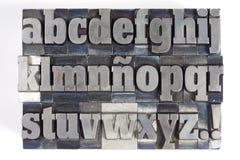 Letras de molde Foto de archivo libre de regalías