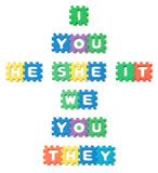 Letras de molde de espuma Imagen de archivo libre de regalías