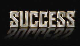 Letras de oro del éxito stock de ilustración