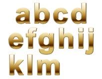Letras de oro del alfabeto Imagen de archivo libre de regalías