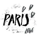 Letras de París Foto de archivo libre de regalías