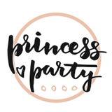 Letras de princesa Party Fotografía de archivo