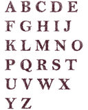 Letras decorativas dibujadas mano del alfabeto inglés Foto de archivo