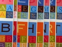 Letras decorativas do alfabeto Foto de Stock Royalty Free