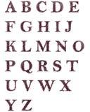 Letras decorativas tiradas mão do alfabeto inglês Foto de Stock