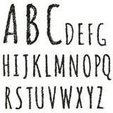 Letras decorativas tiradas mão do alfabeto inglês Fotos de Stock