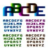 Letras del alfabeto de la fuente de la falta de definición de la distorsión EPS10 Fotos de archivo libres de regalías