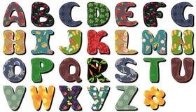 Letras del alfabeto del cordón del libro de recuerdos Imagen de archivo libre de regalías