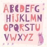 Letras del alfabeto en estilo de la historieta Fotos de archivo libres de regalías