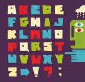 Letras del alfabeto en estilo retro. Fotos de archivo