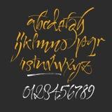 Letras del alfabeto: minúsculo, mayúsculo, números Alfabeto del vector libre illustration