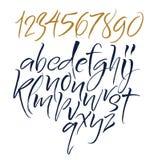 Letras del alfabeto: minúsculo, mayúsculo, números Alfabeto del vector stock de ilustración